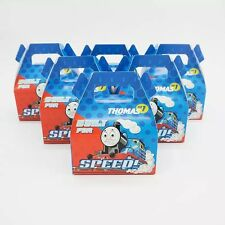🚂6x Thomas Train Engine Paper Loot Lolly Box Bag. Party Supplies Bunting Flag