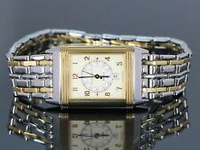 Mid Size Jaeger LeCoultre Reverso Steel 18k Yellow Gold Watch 250.5.11 date