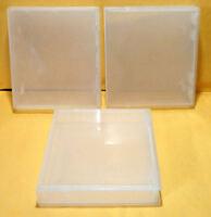 Three Generic Hard Plastic Cases for  NES Nintendo - White - Storage Display