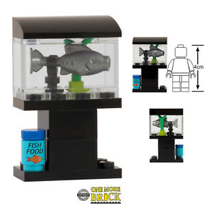 Fish Tank - Custom kit | All parts LEGO | Includes 'Fish Food' printed piece