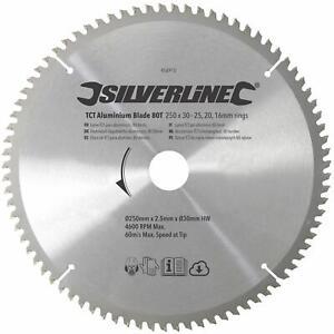 Silverline TCT Aluminium Blade, Triple-Chip Ground Tungsten Carbide-Tipped Teeth