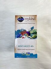 Garden of Life myKind Organics Men's Multi 40+ 60 Vegan Tablets Non-GMO EXP 4/22