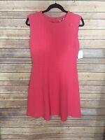 New Ann Taylor Loft Dress Pink Sheath Sleeveless Knit Career Sz 4