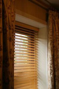 Wooden Venetian Blinds-50mm SLAT-VARIOUS SIZES in 6 COLOURS - CHILD SAFE!