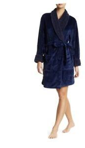Women Fleece Robe Catherine Malandrino with Belted Waist Size L/XL NWT