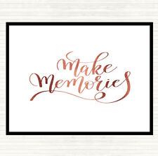 Rose Gold Make Memories Quote Dinner Table Placemat