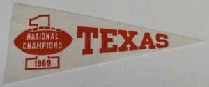 "1969 Texas Longhorns National Football Champs Pennant 18x8"" Very Rare 63807"