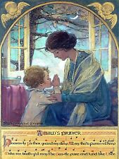 A child's Prayer Wilcox Vintage High Quality Metal Magnet 3 x 4 inches 9450