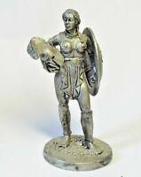 1/32 Amazon Warrior Rome Female Gladiator Girl Tin Metal Figure Handmade 54mm