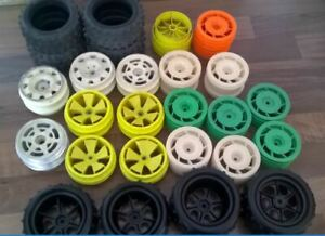 Vintage RC Kyosho assortment of 2wd&4wd wheels and tyres (Lazer,Optima.Ultima)