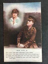 Vintage Postcard - Bamforth Song Card #43 - Blue Eyes (2)