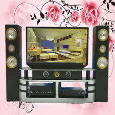 New Mini Hi-Fi TV Home Theater Cabinet Set Combo Room Furniture For Barbie Doll