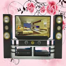 New Mini Hi-Fi TV Home Theater Cabinet Set Combo Room Furniture For Barbie Doll