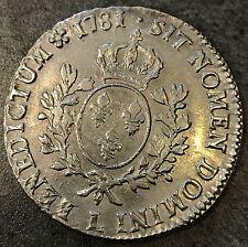 Louis XVI (1774-1792) Ecu aux lauriers 1781 sur 1779 L Bayonne 29,17 gr