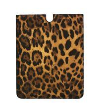 Nuevo Dolce & Gabbana Tableta E-Book Funda Cuero Marrón Diseño de Leopardo