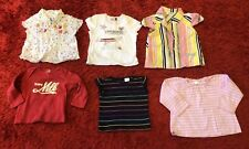 18m Baby Girl Designer Clothing Bundle 6 various tops -DKNY, IKKS, REPLAY & more
