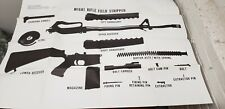 Military Issued Vietnam Era Rifle Disassembly Chart June 1973-New