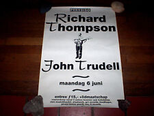 "RICHARD THOMPSON ( 18"" x 24"" ) ORIG 1994 DUTCH in store PROMO POSTER paradiso NM"