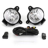 Pair Front Bumper Fog Light Lamp Cover Kit For Toyota Hilux MK7 2012-2014 Vigo B