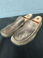 🔥ECCO Mens Dress Shoes Brown Leather Casual Slip On Loafer Size 10.5M🔥