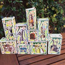 PLAYME x 9 SACAPUNTAS PENCIL SHARPENER MINIATURES WITH BOX VINTAGE