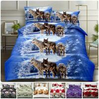 New 4Piece Bedding 3D Duvet Set With Quilt Cover, Fitted Sheet & Pillow cases