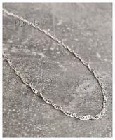 Bracelet Finesse Maille Singapour Argent Massif 925/000 Bijoux NEUF