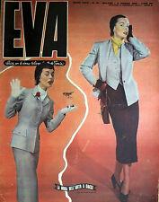 """* EVA N°10/ 3/MAR/1951 * Rivista per la donna italiana diretta da """" Sonia """" *"""