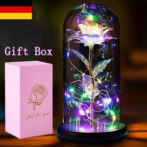 LED Galaxy Rose in Glas Schönheit und das Biest Licht Valentinstag Geschenk Lamp