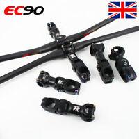 MTB Bike Handlebar 25.4/31.8*660-760mm Adjust Stem 60° Carbon/AL Flat/Riser Bar