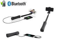Bluetooth Selfie Stick Stange Monopod ausziehbar mit Powerbank Akku Android iOS