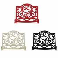 Cookbook Stand Recipe Book Holder Cast Iron Ideal for Your Kitchen