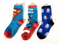 Official Disney Character Crew Socks Pack of 3 Mix Kidss UK 1 - 6 Junior D333-24