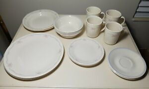 Corelle Corning 22 Pc ENGLISH BREAKFAST, Plates, Mugs, Bowls Service For 4