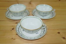 "Bernardaud Barbeaux (3) Cups, 1 3/4"" & (3) Saucers, 6"""