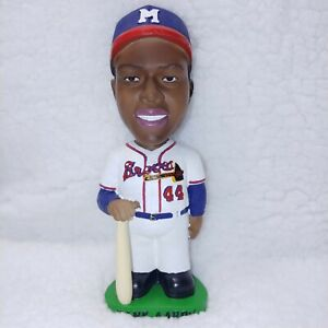 HANK AARON BOBBLE DOBBLES HAND PAINTED BOBBLE HEAD MIB 2001 ORIGINAL PACKAGING