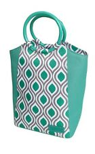 Sachi Insulated Style 229 Lunch Tote Bag with Ring Handle - Peacock Jade