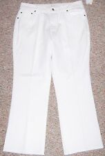 COLDWATER CREEK White Denim Natural Waist Bootcut Jeans Size 16P or 16 Petite