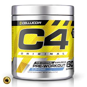 C4 Pre Workout 60 Servings Original Energy Supplement Powder Explosive Endurance