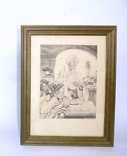 Erotische Kunst Radierung um 1910 - 1925 Erotica Erotika