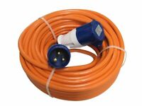 15 m Camp Site Mains Hook Up Extension Cable | Caravan & Motorhome Electrics