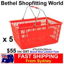 5 Large Chrome Handle Shopping Basket For Fruit, Supermarket Store Brand NEW!