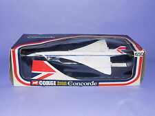 * MINT BOXED * 1976 * CORGI * BRITISH AIRWAYS * METAL CONCORDE WITH STAND *