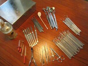 Chirurgisches medizinisches Besteck Instrumente Arzt Praxis Sonde 50er