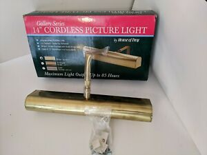 """14"""" Gallery Series Cordless Flourescent Brass ABF14-61 Advent Picture Light"""