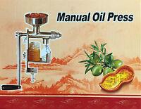 Edelstahl Hand Öl Presse Ölpresse Oelpresse zur Pressung von Ölen aus Samen Neu!