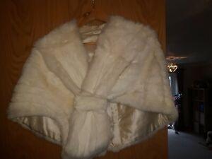 vintage mink fur stole medium