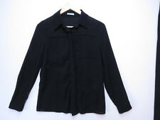 A-011 Kookaï BLACK SHEER RAYON BLOUSE SHIRT TOP SIZE 34