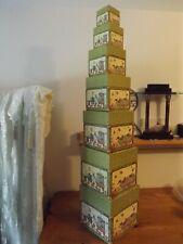 Bob's Boxes 7Pc Nesting Stackable Box Set BIRDS OF A FEATHER DEBI HRON