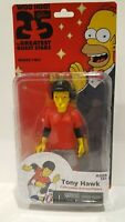 THE SIMPSONS 25 OF THE GREATEST GUEST STARS- TONY HAWK ACTION FIGURE PACKAGE